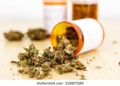 Marijuana bottled for medicinal use