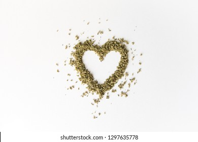 Marijuana Cannabis Heart Valentine's Day Love