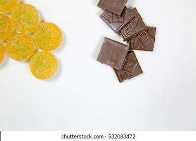 Marijuana chocolate and gummy edibles