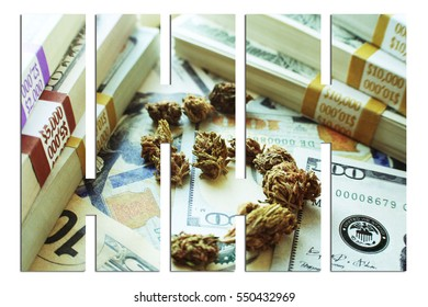 Marijuana Dollar Sign With Bars