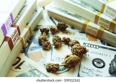 Marijuana Dollar Sign High Quality
