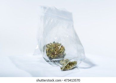 Marijuana Dried Bud closeup on bright background