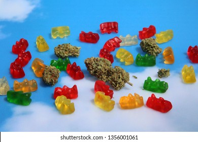 Marijuana Edibles. Cannabis Edibles. CBD Gummy Bears. THC Gummy Candies. Edible Marijuana. Recreational Marijuana. Medical Cannabis.