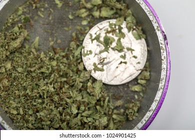 Marijuana grinder used for pot also called weed