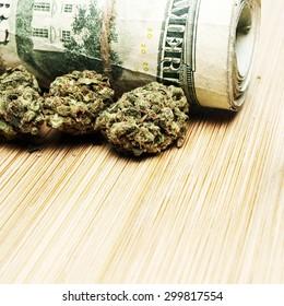 Marijuana Grunge on White
