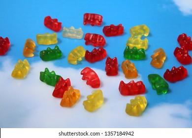 Marijuana Gummy Bears. Marijuana or Cannabis infused gummy candies. THC infused Gummies. CBD Infused Jellies.