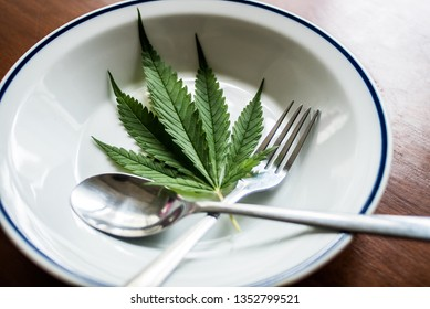 marijuana on dish