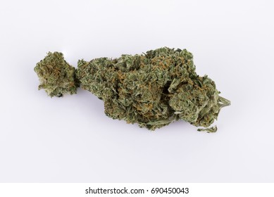 Marijuana Sativa bud on white background