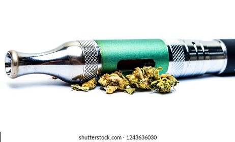 Marijuana Vape Pen and Cannabis Bud