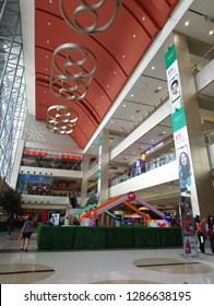 MARIKINA, PH - JAN. 15: SM Marikina mall interior on January 15, 2019 in Marikina, Philippines. SM (Shoe Mart) brand is a super malls based in Philippines.