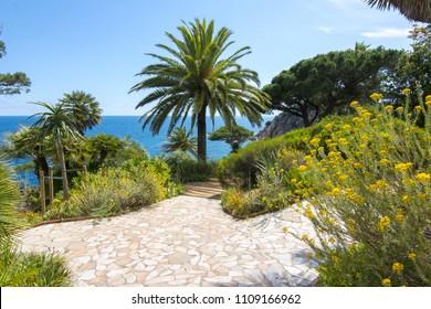 Marimurtra botanical garden at Blanes near Barcelona, Spain