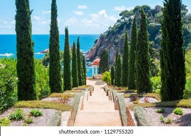 Marimurtra botanical garden in Blanes near Barcelona, Spain