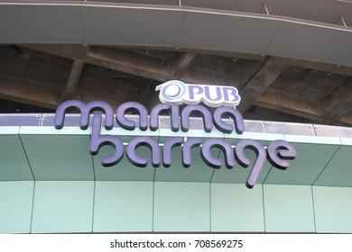 Marina Barrage label in Singapore (23 September 2016)