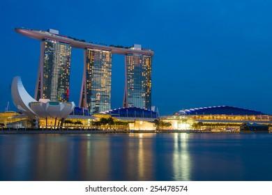 Marina Bay Sand Hotel in Singapore, February 8, 2015