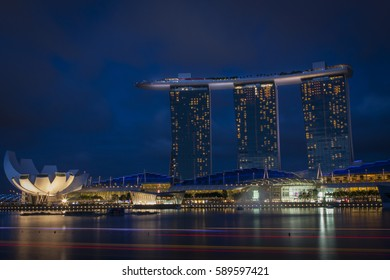 Marina bay Sands hotel, Singapore July 30, 2012 This hotel opened her doors in june 2010. With a swimming pool on top, a casino and a 7 stars restaurant it's one of the most luxury hotels in the world