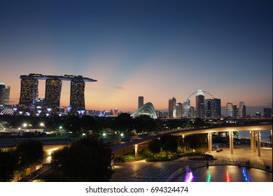 Marina Bay Sands is the most beautiful building in Singapore. Marina Bay Sands looks beautiful in all angles. Picture was taken from Marina Barrage.