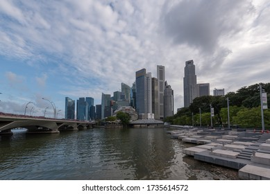 Marina Bay,SINGAPORE - JUNE 20, 2019: Marina Bay Singapore is a world famous tourist city with highly developed economic infrastructure