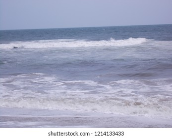 Marina beach water waves