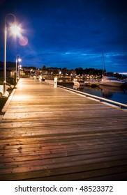 Marina Boardwalk At Dusk