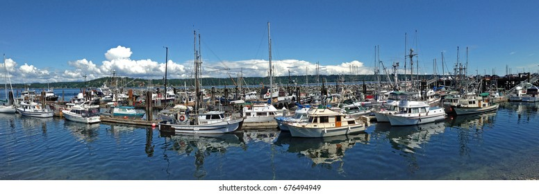 Marina at Campbell River , British Columbia , Canada. June 2017. For editorial use only