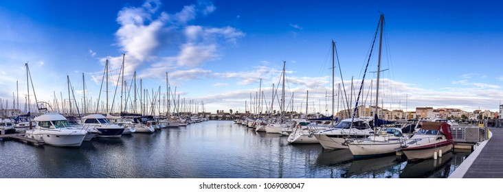 Marina in Cap d'Agde in Occitania, France