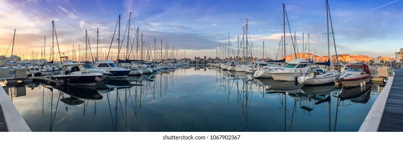 Marina of Cap d'Agde in Occitanie, France