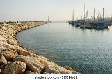 Marina of the city of Ashkelon on the Mediterranean Sea