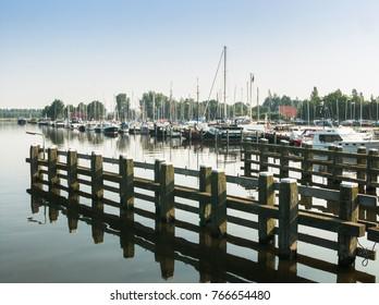 Marina of the city of Nijkerk in the province Gelderland, Holland, NLD