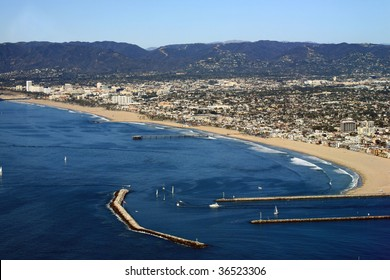 marina del rey harbor entrance in California