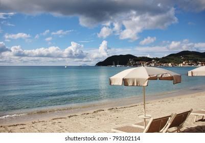 Marina di Campo beach, Elba Island, Italy