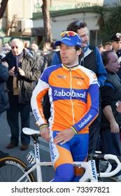 MARINA DI CARRARA, CARRARA - MARCH 09: Oscar Freire Gomez of Team Rabobank after the 1st Time Trial stage of 2011 Tirreno-Adriatico on March 09, 2011 in Marina di Carrara, Carrara, Italy