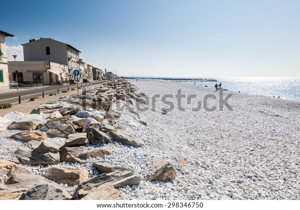 MARINA DI VECCHIANO, ITALY - OCTOBER 7: Views of Marina di Vecchiano, a town located on the Ligurian coast of Italy on October 7, 2009. Its near the city of Pisa, Tuscany.