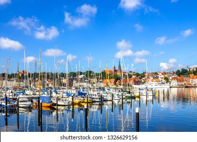 Marina of Flensburg, Germany