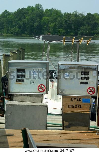 Marina Gas Pump Filling Station Stock Photo (Edit Now) 3417107