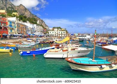 Marina Grande in Capri, Capri island, Italy