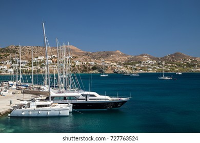 Marina in a greek island