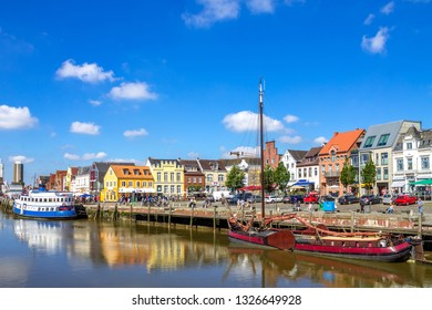 Marina of Husum, Germany