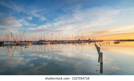Marina at lake neusiedl in burgenland