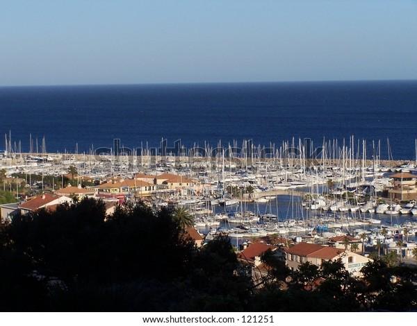 Marina in Lavandou, France