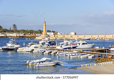 Marina and lighthouse of the Ancient Egyptian City of Alexandria, Egypt