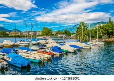 Marina in Locarno, Switzerland