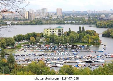 Marina on the Dnieper in Kiev