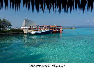 Marina on Maafushi Island Maldives