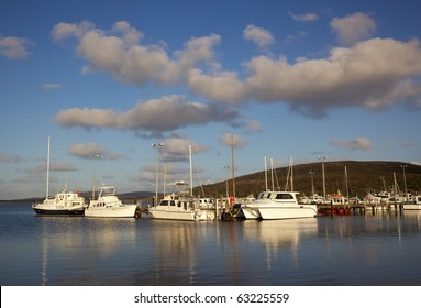The marina at Oyster Harbour in Albany, Western Australia.