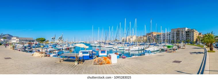 Marina in Palermo, Sicily, Italy