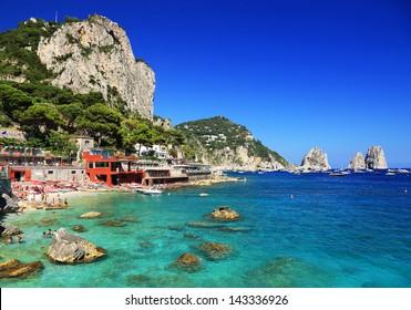 Marina Piccola on Capri Island, Italy, Europe