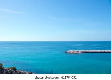 Marina port in Moraira Teulada Alicante Mediterranean Spain