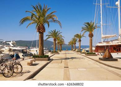 Marina Porto Montenegro in Tivat town. Montenegro