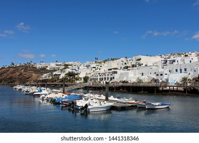 Marina in Puerto del Carmen, in the south of Lanzarote Island in the Canaries Archipelago, Spain