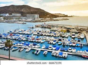 Marina in Puerto Rico de Gran Canaria.